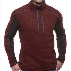 Kuhl Interceptr quarter-zip fleece pullover maroon